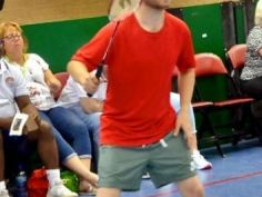 Andy Bower Bronze medallist Badminton